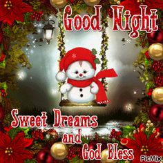 Good Night sister and all, have a restful sleep. God bless you all. xxx