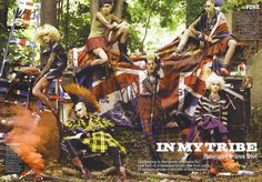 "Steven Meisel's editorial for magazine Fashion Rocks. ""In my tribe"" focuses on four different youth movements: punk, goth, mod and rave."