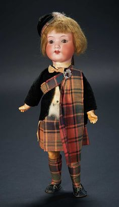 Love, Shirley Temple, Collector's Book: Lot # 469: German Bisque Child in Scottish Costume