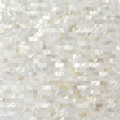 Shop 12 x 12 Serene White Bricks Groutless Polished Pearl Shell ...