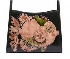 @ Ritzy Bagz ♥ Luxusní kožená ručně malovaná kabelka DONATELLA ♥ handmade and handpainted leather handbag. Artisan work