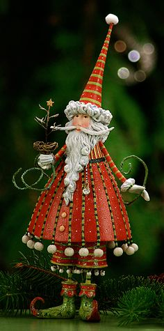 Santa -Krinkles Christmas Figures by Patience Brewster at Fiddlesticks