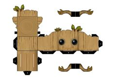 Groot by Tyumenb toys Anime Crafts, Paper Crafts Origami, Avengers Crafts, Papercraft Pokemon, Paper Doll Template, Paper Models, Paper Toys, Paper Art, Deviantart