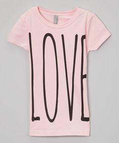 Look at this The Talking Shirt Light Pink 'Love' Tee - Kids on #zulily today!