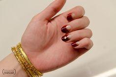 Gelish half moon nails