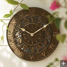 ivy outdoor clock u0026 thermometer grandin road