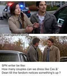 "SPN writers be like; ""Allllllll the parallels! Dean And Castiel, Supernatural Destiel, Misha Collins, Jared Padalecki, Jensen Ackles, Super Natural, Superwholock, Best Shows Ever, Movie Tv"