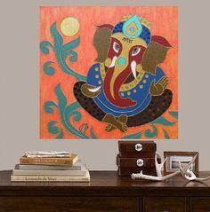 Ganesha II.... original painting acrylic 157x157 40x40 by Pepponi, €110.00