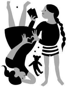 Illustration for the New York Times on the love shared by siblings
