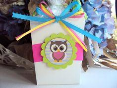 Owl Party Favor, Favor Box, Birthday Favor. $17.50, via Etsy.