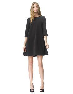 Behati - black - Flared crêpe dress | LaDress