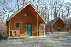"""14'7"""" x 27' 580 sq. ft. cabin has a living area, porch space, kitchen, bathroom, bunk rooms and loft space so there's plenty of spac"""