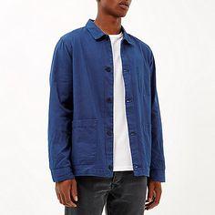 Blue utility worker jacket
