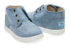 With every product you purchase, TOMS will help a person in need. Together We Stand, Tiny Toms, Social Enterprise, Boy Fashion, Chambray, Boy Outfits, Baby Shoes, Footwear, Navy
