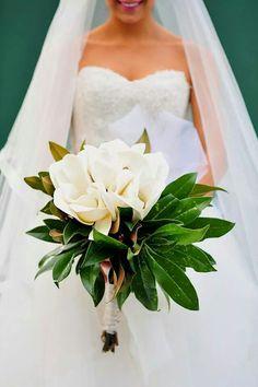 Magnolia bouquet but zhong Jiao likes the dress