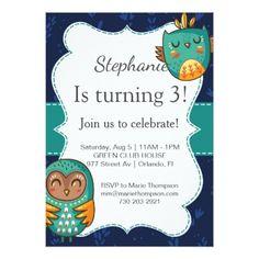 #Owl birthday invitation girl invites I go cute kid - #birthdayinvitation #birthday #party #invitation #cool #parties #invitations