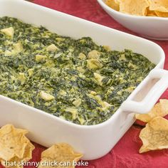 Cheesy Spinach Dip #