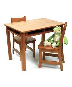 Love this Three-Piece Child's Four-Shelf Table Set by Lipper International on #zulily! #zulilyfinds