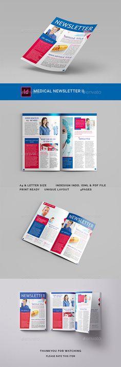 Medical Newsletter II - #Newsletters Print #Templates Download here:  https://graphicriver.net/item/medical-newsletter-ii/19460028?ref=alena994