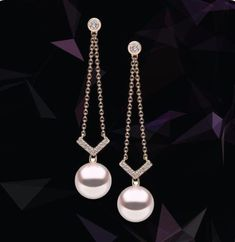 Bridal Jewelry Sharp diamond angles set against perfectly round pearls make for a sensational, contemporary pairing. How would you style these earrings? Sparkly Jewelry, Cheap Jewelry, Pearl Jewelry, Bridal Jewelry, Silver Jewelry, Silver Ring, Silver Earrings, Drop Earrings, Jewelry Trends