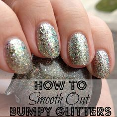 """Love the look of glitter nail polish, but hate the way it feels? If you are like me, having bumpy glitter polish on my nails drives me absolutely bonkers. Resist that urge to peel by smoothing out your bumpy glitter nail polish. Simply add 1 or 2 coats of a clear coat over your nail polish. Cover with top coat as usual."" — Jessika, polish insomniac"