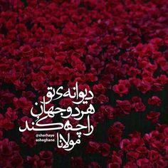 مولانا ● #مولانا #مولوي #مولوی #rumi آنکس که تُرا شناخت جان را چه کُند، فرزند و عیال و خانمان را چه کُند؛ دیوانه کُنی هر دو جهانش بخشی دیوانهی تو هر دو جهان را چه کُند! + مولانا