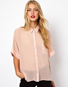 Image 1 of ASOS Swing Blouse with Kimono Sleeve