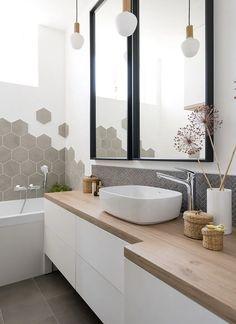 Modern White Bathroom, Modern Bathroom Design, Interior Design Toilet, Home Office Design, House Design, Sewing Room Furniture, Bathroom Inspiration, Cheap Home Decor, Provence
