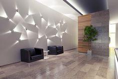 Lobby interior by Serg Sova, via Behance Lobby Interior, Interior Lighting, Home Interior, Home Lighting, Lighting Design, Interior Decorating, Interior Design, Modern Lighting, Entryway Lighting