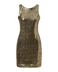Amalie and Amber Gold Sequin Bodycon Dress  53c4551ced19