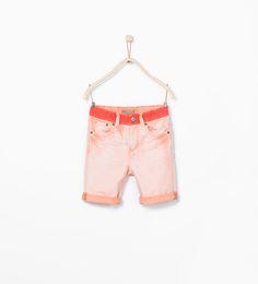ZARA的图片 1 名称 撞色百慕達短褲