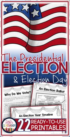Presidential Election 2016 • The Presidential Election for Kids, the Electoral Process, and Election Day in kid-friendly (and teacher-friendly!) language • UPDATED w/ 10 ADD'L PAGES!  • Reading Passages, Map Skills, Graphic Organizers, Comprehension Checks, and more!