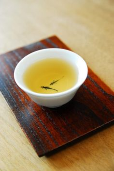 Japanese green tea - love the fish painted like they're swimming in the tea
