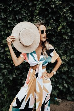Top: HERE Bottoms: HERE Hat: Revolve The look that I fell in love with! I'm so sad to say that Anthroplogie has them sold out but there are a few more on Revolve! So run over and snag the cutest Mara Hoffman design items! XX