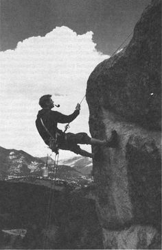 The 1960s marked a new era in mountain climbing in Rocky Mountain National Park. New techniques and equipment made many rock faces scalable for the first time. (RMNPHC)