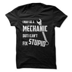 I May Be A MECHANIC But I can't Fix STUPID T Shirt, Hoodie, Sweatshirt