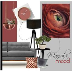 Marsala Mood by cafelab on Polyvore featuring interior, interiors, interior design, Casa, home decor, interior decorating, Thrive, Kartell, Adesso and Kevin O'Brien