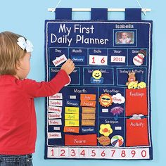 Personalized Kids Daily Planner Wall Chart/Playroom Decor