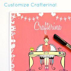Crafterina Craft Book DIY from www.Crafterina.com