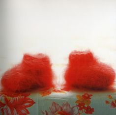 Angora Baby Booties, from 'Last Minute Knitted Gifts' book by Joelle Hoverson, available at Gather.