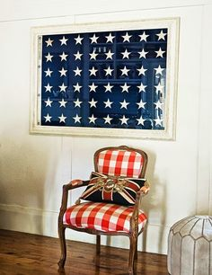 Hey there friends! This month has completely flown by for us and I can't believe Memorial Day is quickly approaching. Home Interior, Interior Design, Interior Paint, Home Of The Brave, 4th Of July Decorations, My Living Room, Modern Rustic, Rustic Wood, Modern Decor