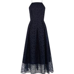 Warehouse Warehouse Strappy Lace Midi Dress Size 8 (2.495 RUB) ❤ liked on Polyvore featuring dresses, navy, strappy midi dress, navy blue midi dress, calf length dresses, navy blue lace dress and blue dress
