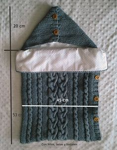 Com - Diy Crafts Diy Crafts Knitting, Knitting Projects, Bag Patterns To Sew, Baby Knitting Patterns, Baby Sleeping Bag Pattern, Baby Cocoon, Baby Sewing, Baby Quilts, Barn
