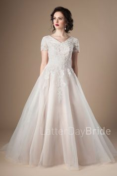 modest bridal ball g