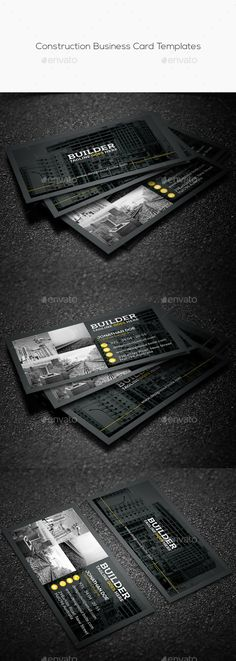 Construction Business Card Templates — Photoshop PSD #freight #air • Available here → https://graphicriver.net/item/construction-business-card-templates/14328498?ref=pxcr