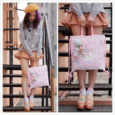 Beckybwardrobe Heart Full Sweater, Beckybwardrobe Fair Lady Umbrella Skirt, Beckybwardrobe Painter's Hat, Joy Heels