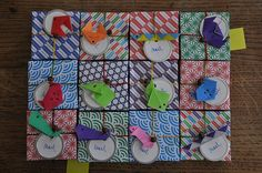 origami boxes by batixa  bapteme Mael ;-)