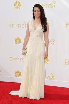 Lucy Liu de Zac Posen   Emmys 2014 - Alfombra Roja Mejor Vestidas | Ella es Fashion