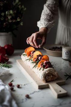 Winter Fruit Pavlova Roulade - The Kitchen McCabe