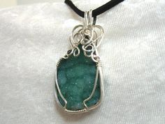 Druzy Pendant Geode Pendant Necklace Solid by jpatterson312, $58.00